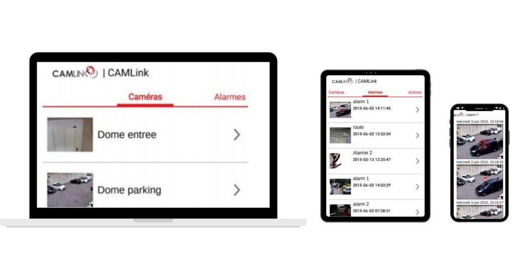 application vidéo surveillance